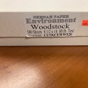 CLOSEOUTS Environment Woodstock Text 8-1/2x14 80lb (500/pkg)