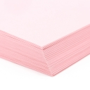 Perforated at 3-2/3 Bristol Cover Pink 8-1/2x11 67lb 250/pkg