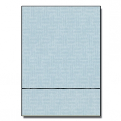 Perforated at 3-1/2 Check Paper Blue 8-1/2x11 24lb 500/pkg