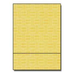 Perforated at 3-1/2 Check Paper Yellow 8-1/2x11 24lb 500/pkg
