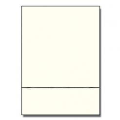 Perforated at 3-1/2 Bristol Cover Cream 8-1/2x11 67lb 250/pk