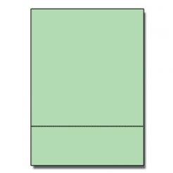 Perforated at 3-1/2 Bristol Cover Green 8-1/2x11 67lb 250/pk