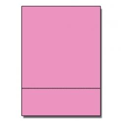 Perf at 3-2/3 Astro 65lb Cover Pulsar Pink 8-1/2x11 250/pkg