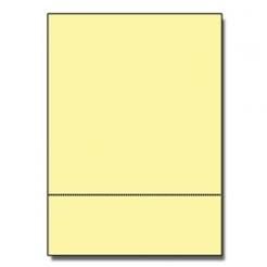 Perforated at 3-2/3 Bristol Cover Yellow 8-1/2x11 67lb 250pk