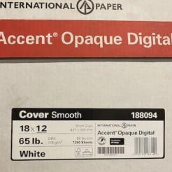 CLOSEOUTS Accent Opaque 12x18 65lb Cover 250/pkg