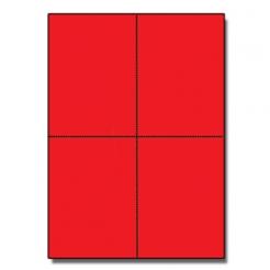 Postcards 4up Astrobright Re-entry Red 1000/pkg