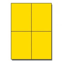 Postcards 4up Astrobright Solar Yellow 1000/pkg