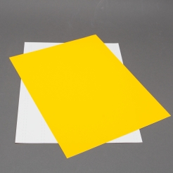 Fluorescent Orange 8-1/2x11 Self-Adhesive Label Paper 100/pk