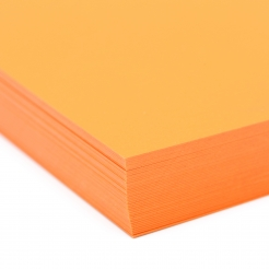 Plike Text Orange 12x18 95lb/140g 100/pkg