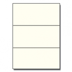 Perforated Every 3-2/3 Bristol Cover Cream 8-1/2x11 67 250pk