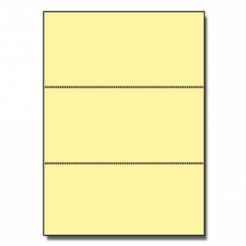 Perforated Every 3-2/3 Bristol Cover Yellow 8.5x11 67lb 250/pkg