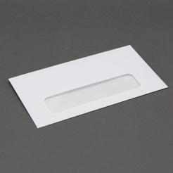 White Wove #6-3/4 24lb Window Envelope 500/box