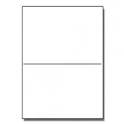 Half-Fold Brochure 8-1/2x11 67lb Exact White 250/pkg
