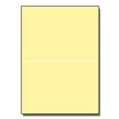 Perforated at 5-1/2 Bristol Cover Yellow 8-1/2x11 67lb 250pk