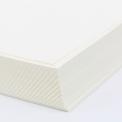 Cranes Lettra Fluorescent White A7 Plain Card [5x7] 50pkg