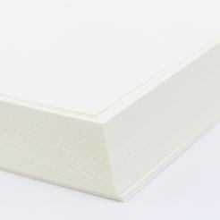 Cranes Lettra Pearl White A6 Plain Card [4-5/8x6-1/4] 50pkg