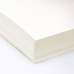 Classic Laid Cover Natural White 18x12 100lb/270g 125/pkg
