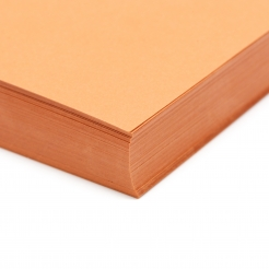 Basis Premium Cover 8-1/2x11 80lb Dark Orange 100/pkg