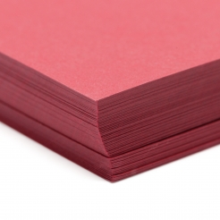 Basis Premium Cover 8-1/2x11 80lb Dark Red 100/pkg