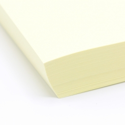 Basis Premium Cover 8-1/2x11 80lb Light Yellow 100/pkg