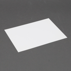 Platinum Lee size White Plain Card 5-1/8x7 250/box