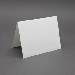 Crest 4 Baronial White Panel Folder [3-1/2x4-7/8] 250/box