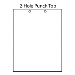 Punched at Top 2-Hole [2-3/4 apart] 8-1/2x11 20lb 500/pkg