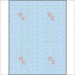 Rx Prescription Paper 8-1/2x11 24lb Blue-Tint 2500/FULL-CASE