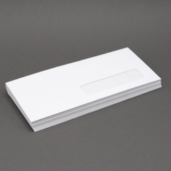 White Wove #10 24lb RIGHT-HAND Window Envelope 500/box