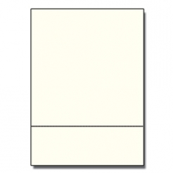 Perforated at 3-2/3 Bristol Cover Cream 8-1/2x11 67lb 250/pk