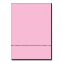 Perforated at 3-1/2 Bristol Cover Pink 8-1/2x11 67lb 250/pkg