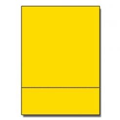 Perf at 3-2/3 Astro 65lb Cover Solar Yellow 8-1/2x11 250/pkg