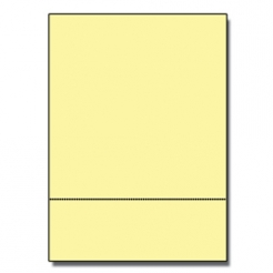Perforated at 3-2/3 Bristol Cover Yellow 8-1/2x11 67lb 250pk