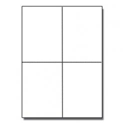 Postcards 4up Classic Crest Solar White 65lb 1000/pkg