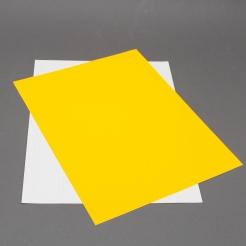 Fluorescent Orange 8-1/2x11 Self-Adhesive Label Paper 100/pk