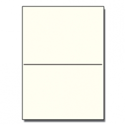 Perforated at 5-1/2 Bristol Cover Cream 8-1/2x11 67lb 250/pk