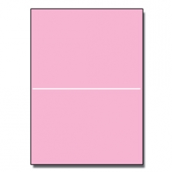 Perforated at 5-1/2 Bristol Cover Pink 8-1/2x11 67lb 250/pkg