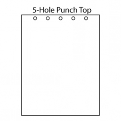 Punched at Top 5-Hole [1-3/8 apart] 8-1/2x11 20lb 500/pkg