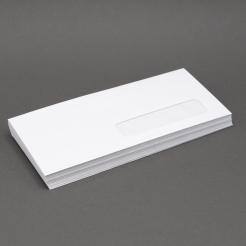 White Wove #10 24lb RIGHT-HAND Window Envelope 500/box