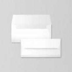 SAVOY Natural White Envelope #10 80lb Square Flap 50/pkg